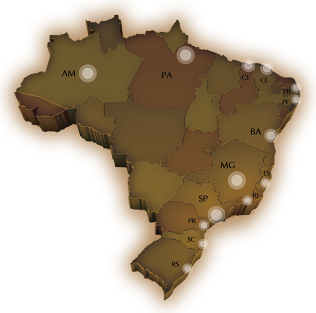 Mapa Atuação Brasil